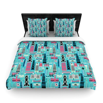My Kind of Chicago by Allison Beilke Featherweight Duvet Cover Size: Queen, Fabric: Woven Polyester