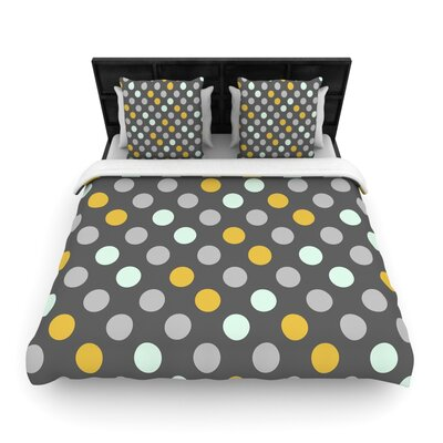 Minty Polka by Pellerina Design Featherweight Duvet Cover Size: Twin, Fabric: Woven Polyester