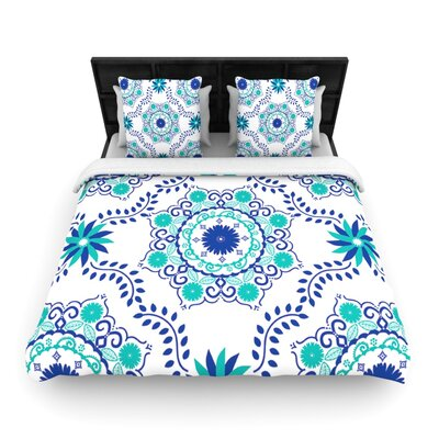 Lets Dance Blue by Anneline Sophia Woven Duvet Cover Size: Queen