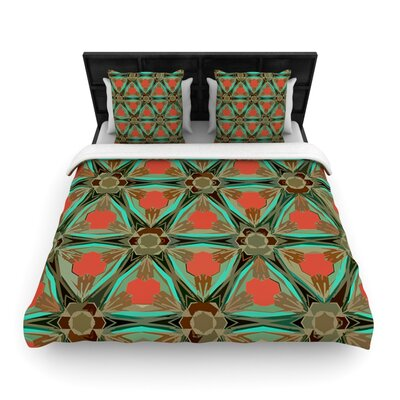 Moorish Earth by Alison Coxon Woven Duvet Cover Size: Queen