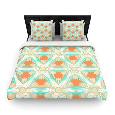 Moorish Teal by Alison Coxon Woven Duvet Cover Size: Twin