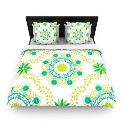 Lets Dance Green by Anneline Sophia Woven Duvet Cover Size: King/California King