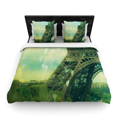 Paris Dreams by Ann Barnes Featherweight Duvet Cover Size: King/California King, Fabric: Woven Polyester