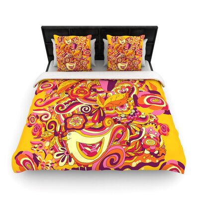 Utopia Light by Alisa Drukman Featherweight Duvet Cover Size: King/California King, Fabric: Woven Polyester