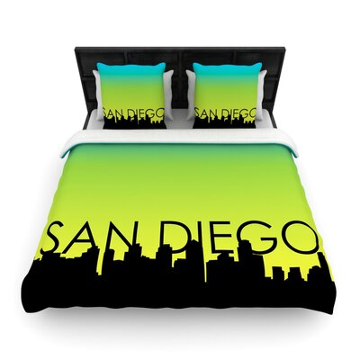 San Diego Woven Duvet Cover Size: King/California King