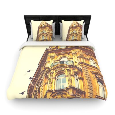 Prague Morning by Ann Barnes Building Featherweight Duvet Cover Size: Twin, Fabric: Woven Polyester