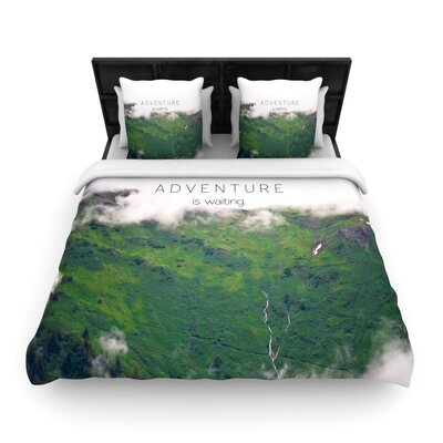 Adventure is Waiting by Ann Barnes Featherweight Duvet Cover Size: Twin, Fabric: Woven Polyester