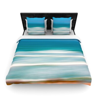 Sun and Sea by Ann Barnes Featherweight Duvet Cover Size: Twin, Fabric: Woven Polyester