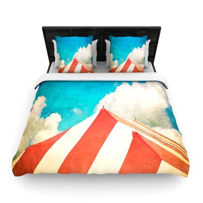 The Big Top by Ann Barnes Woven Duvet Cover Size: King/California King
