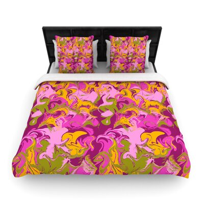 Marbleized by Anneline Sophia Featherweight Duvet Cover Size: King/California King, Color: Plum