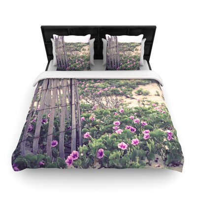 Morning at the Beach by Ann Barnes Featherweight Duvet Cover Size: Twin, Fabric: Woven Polyester