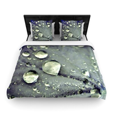 Water Droplets Blue by Iris Lehnhardt Woven Duvet Cover Size: Twin