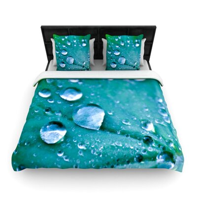 Water Droplets Aqua by Iris Lehnhardt Woven Duvet Cover Size: Twin