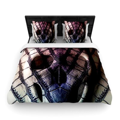 Skull Woven Duvet Cover Size: King/California King