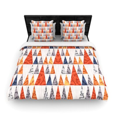 Tepee Town by Daisy Beatrice Woven Duvet Cover Size: Queen