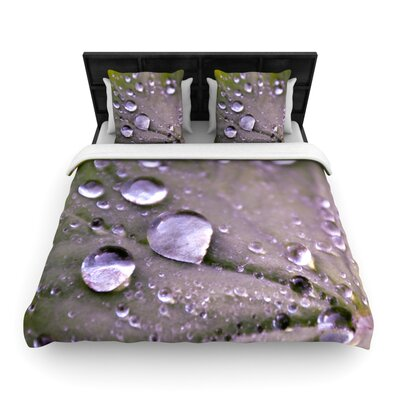 Water Droplets Purple by Iris Lehnhardt Woven Duvet Cover Size: Queen