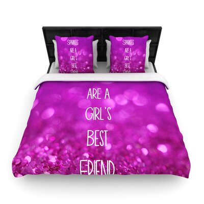 Sparkles are a Girls Best Friend by Beth Engel Woven Duvet Cover Size: Queen