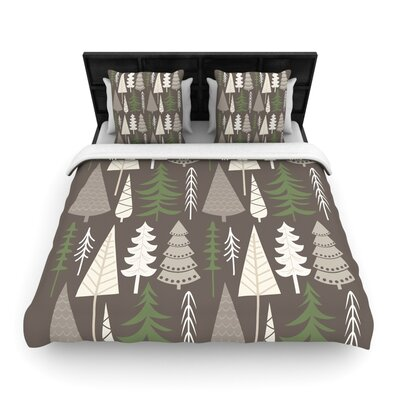 Happy Forest Brown Woven Duvet Cover Size: King/California King