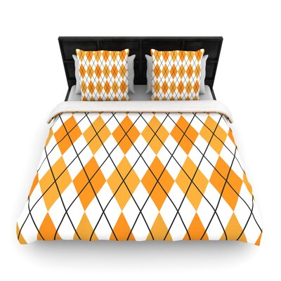 Argyle - Day Woven Duvet Cover Size: Queen