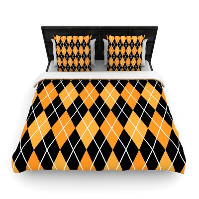 Argyle - Night Woven Duvet Cover Size: Queen