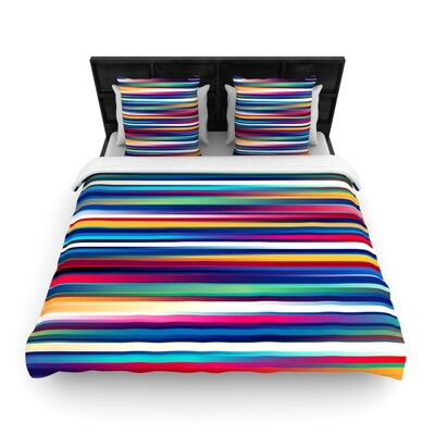 Blurry Lines by Danny Ivan Woven Duvet Cover Size: Queen