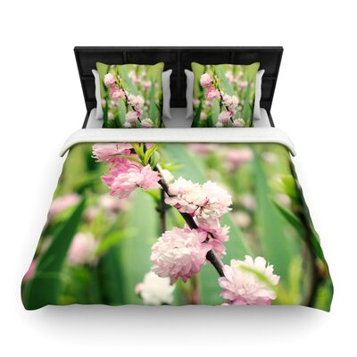 The Best Things in Life Are Pink by Beth Engel Woven Duvet Cover Size: King/California King