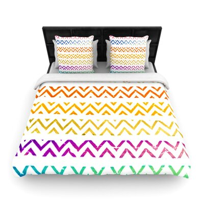 Chevron Add by Sreetama Ray Woven Duvet Cover Size: King/California King