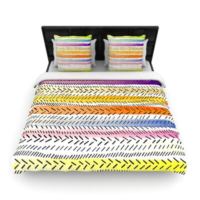 Dash 3 by Sreetama Ray Woven Duvet Cover Size: Twin