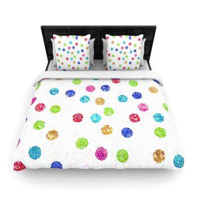 Seeing Dots by Beth Engel Woven Duvet Cover Size: Queen