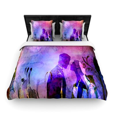 Couple In Love by alyZen Moonshadow Featherweight Duvet Cover Size: Queen, Fabric: Woven Polyester