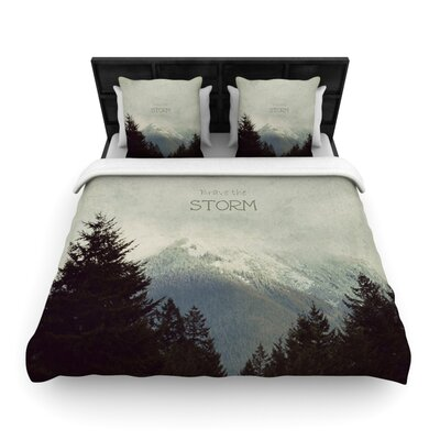 Brave The Storm by Robin Dickinson Woven Duvet Cover Size: Queen