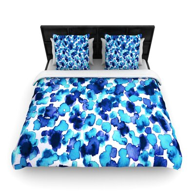 Giraffe Spots by Ebi Emporium Woven Duvet Cover Size: King/California King, Color: Aqua