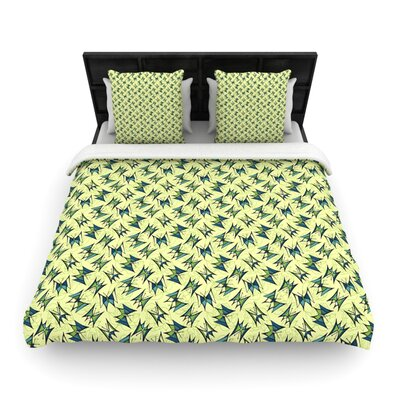 Flutterby by Holly Helgeson Woven Duvet Cover Size: Twin