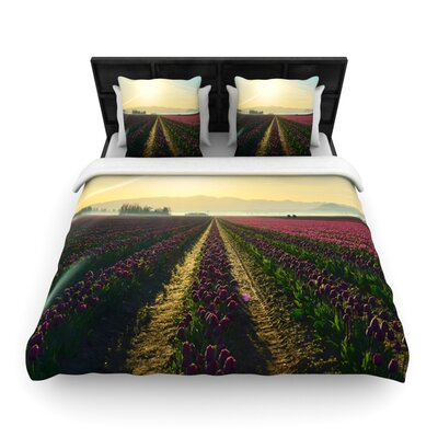 Here Comes The Sun by Robin Dickinson Woven Duvet Cover Size: Twin