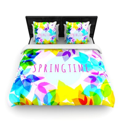 Seasons Springtime by Sreetama Ray Woven Duvet Cover Size: Twin