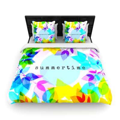 Seasons Summer by Sreetama Ray Woven Duvet Cover Size: King/California King