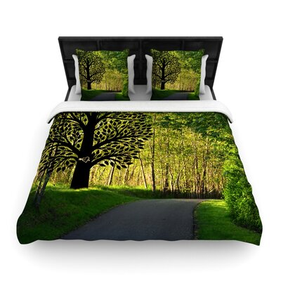 Love Nature by Robin Dickinson Woven Duvet Cover Size: Twin