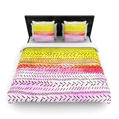 Sunshine by Sreetama Ray Woven Duvet Cover Size: Queen