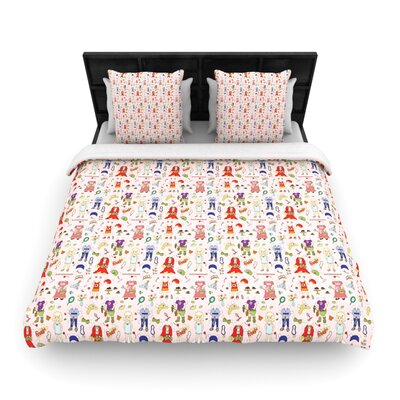 Miss Ruby by Holly Helgeson Woven Duvet Cover Size: King/California King