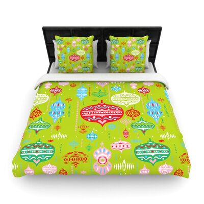 Ornate Green by Miranda Mol Woven Duvet Cover Size: Queen