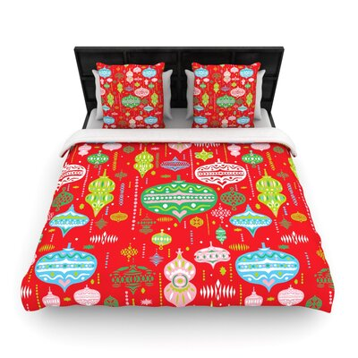 Ornate Red by Miranda Mol Woven Duvet Cover Size: Twin