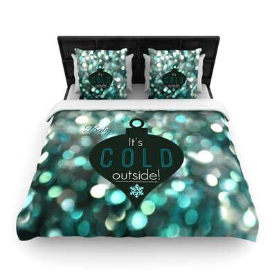 Its Cold Outside by Robin Dickinson Woven Duvet Cover Size: King/California King