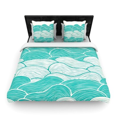 The Calm and Stormy Seas by Pom Graphic Woven Duvet Cover Size: Twin