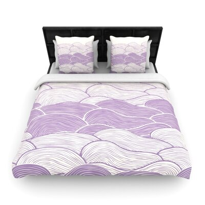 The Lavender Seas by Pom Graphic Woven Duvet Cover Size: King/California King