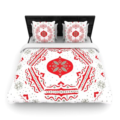 Snowjoy White by Miranda Mol Woven Duvet Cover Size: Twin