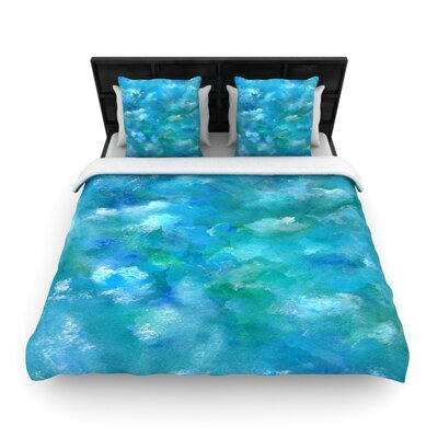Ocean Waters by Rosie Brown Woven Duvet Cover Size: King/California King
