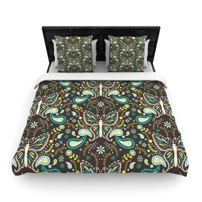 Butterfly Garden by Suzie Tremel Woven Duvet Cover Size: Twin