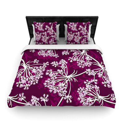 Squiggly Floral by Suzie Tremel Woven Duvet Cover Size: Twin
