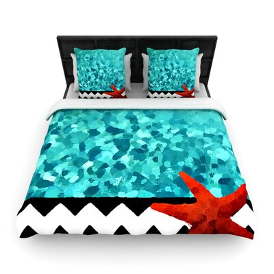 Turquoise Ocean by Oriana Cordero Woven Duvet Cover Size: Twin