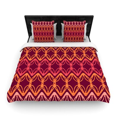 Rick Rack by Suzie Tremel Woven Duvet Cover Size: Twin